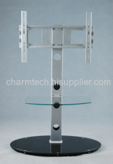 Round Glass TV Stand