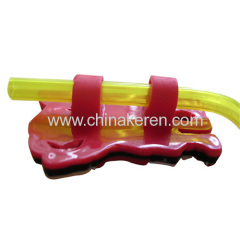 Plastic Flexible Pvc Plastic cup Drinking straw