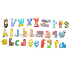 2013fashione soft pvc Letters animal