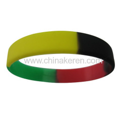 58mm silicone mixed color bracelets