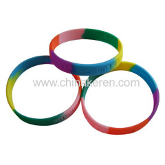 Silicone Mixed colors bracelet