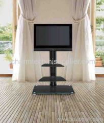Fashion Black Glass TV Stand
