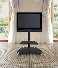 Black Iron Tube LCD TV Stands