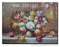 Still life flower oil painting