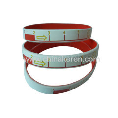 fashion country flags silicone bracelet debossed pvc id bracelets