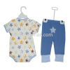 baby short sleeve bodysuit and pants