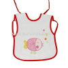 short towel baby bib with printing