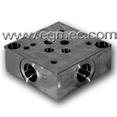 Normal Flow G3/8 Rexroth Side Ported Subplate BSPP Or NPT Porting Connection