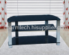 Modern Design Black Tempered Glass Shelves TV Stand Suit for LCD/Plasma TVs Up to 52