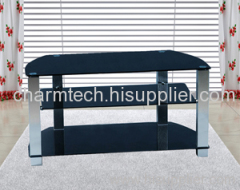 3 Black Glass Plasma TV Stand