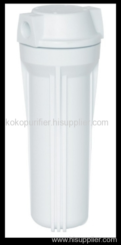 single clear water filter housing