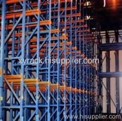 cold warehouse drive in storage rack for food industries