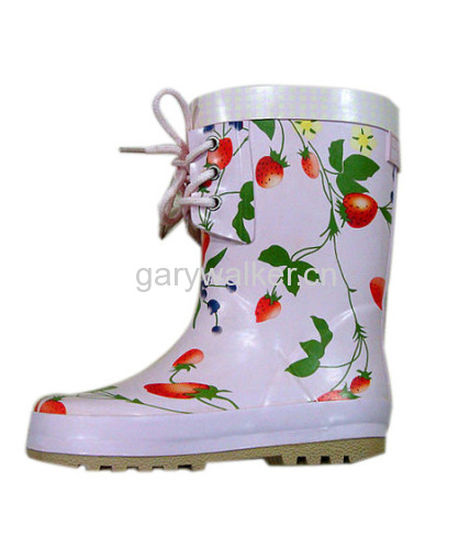 lovely kids'rubber boots
