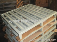 metal storage pallet cooperate with forklift