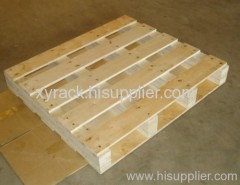 double faced wooden pallet for warehouse or supermarket