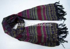 acrylic jaquard woven scarf