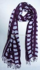 viscose printed checked scarf