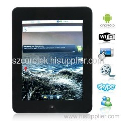 8 Inch Android OS 2.2 PC Netbook Support 3D Gravity Sensor Game + IM Tools + 512MB DDR2 RAM