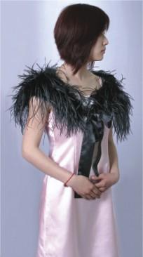 High quality lady ostrich shawl