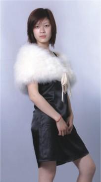 white Feather shawl