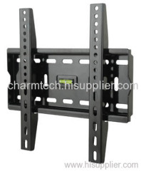 Black Steel Fixed LCD TV Mount
