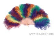 colorful Feather Fan