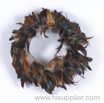 Decorative dyed feather ring
