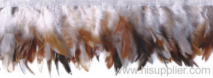 cock feather colored trim