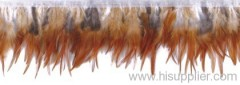 natural color feather trim
