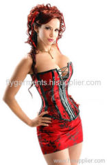 Naughty brocade corset with dress
