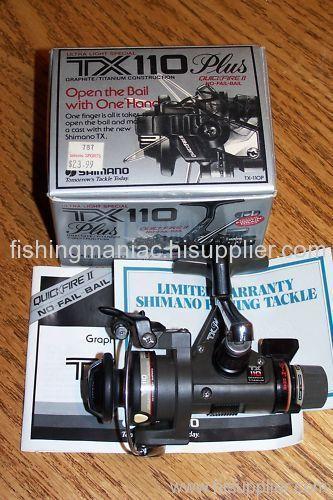 Vintage Shimano TX 110 Plus Spinning Reel