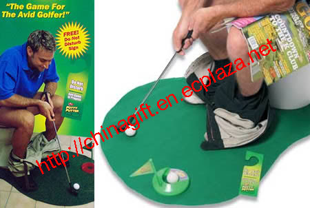 Toilet golf (Potty Putter Golf game)
