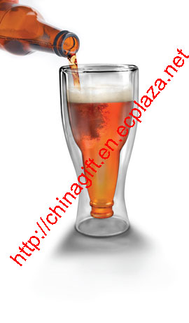 Fred and Friends Hopside Down Glass Mug - Upside Down Beer Glass