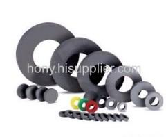 permanent sintered ring type ferrite magnet