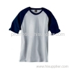 Ringspun Cotton Contrast Raglan T-shirt with Piping