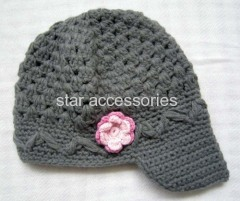 acrylic knitted kids hat