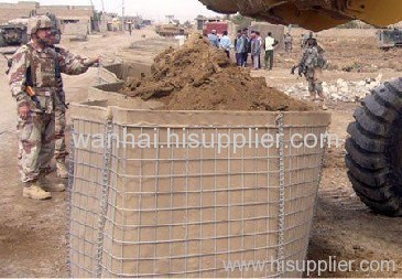 Military wire mesh Hesco Bastion