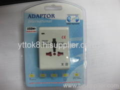 Universal Travel Adaptor with USB 1A for IPhone and IPAD