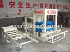 QT4-20 semi-automatic baking-free hollow block making machine made by yugong