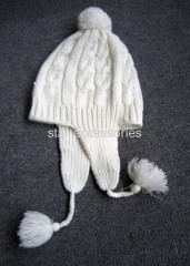 acrylic jacquard knitted earflap hat