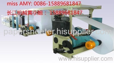 A4 cut-size sheeter with A4 ream wrapping machine