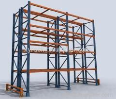 double deep storage pallet racking