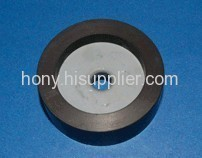 Ferrite injected plastic motor magnets