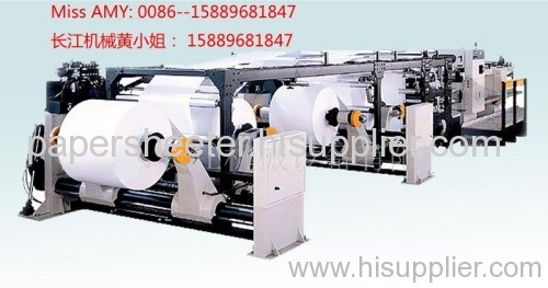 Paper and paperboard sheeter cutter with wrapping machine