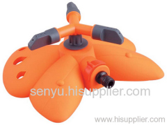 butterfly base sprinkler with three arm