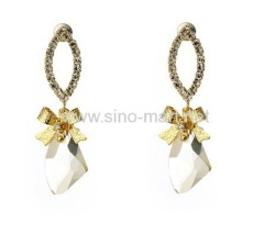 crystal earring finding