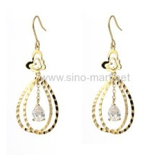 crystal earing finding