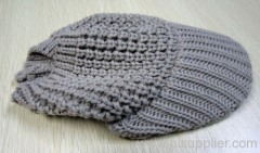 acrylic knitted hat with shade