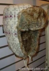 fake fur trapper hat