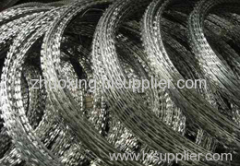 galvanized steel razor barbed wire mesh